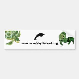 Manatee, dolphin, sea turtle car bumper sticker