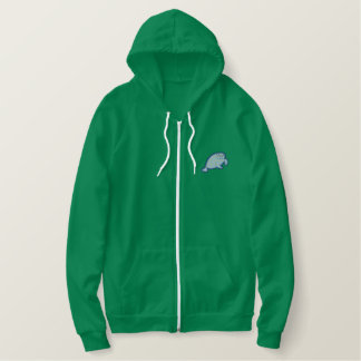 Manatee Embroidered Hoodie