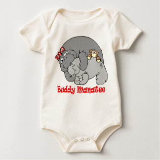 Manatee Kiss Baby Sleeper Bodysuit
