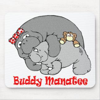 Manatee Kiss Mousepad