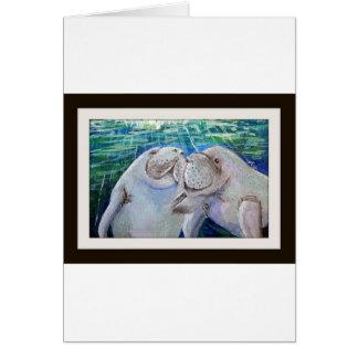 Manatee Love Card