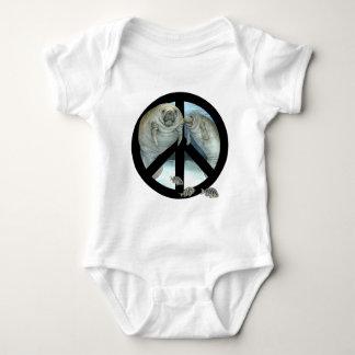 manatee peace baby bodysuit