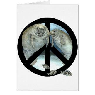 manatee peace card