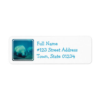 Manatee Photo Mailing Label Return Address Label
