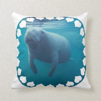 Manatee  Pillow Throw Cushion