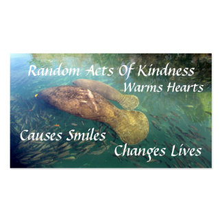 Manatee Random Acts of Kindness Card Double-Sided Standard Business Cards (Pack Of 100)
