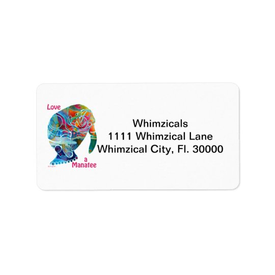 Manatee Return Address Labels