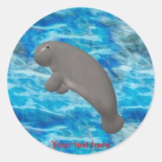 Manatee Round Sticker