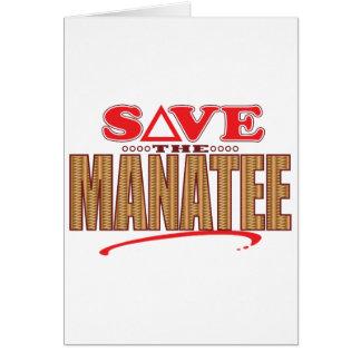 Manatee Save Card
