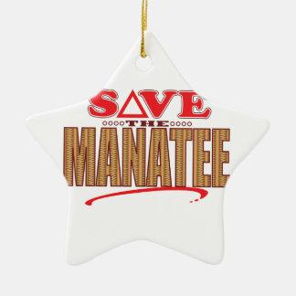 Manatee Save Ceramic Star Decoration