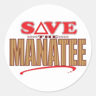 Manatee Save Classic Round Sticker