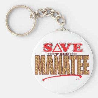 Manatee Save Key Ring