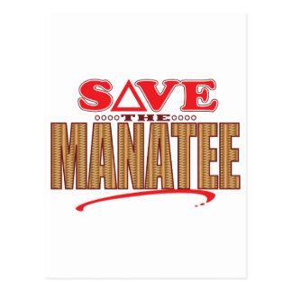 Manatee Save Postcard