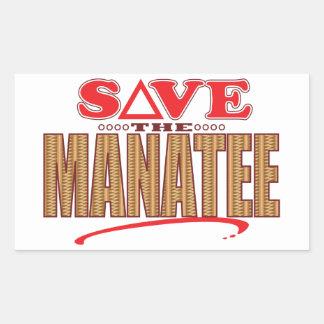 Manatee Save Rectangular Sticker