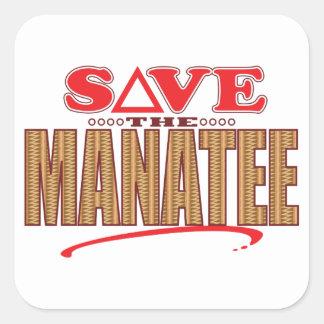 Manatee Save Square Sticker