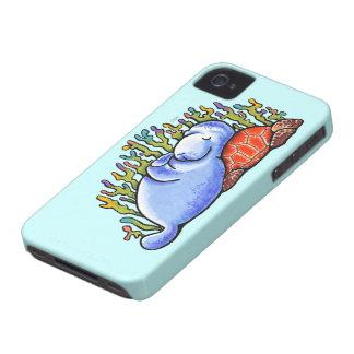 Manatee Sea Turtle Slumber Party Case-Mate iPhone 4 Case