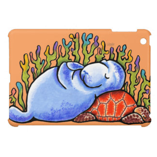 Manatee Sea Turtle Slumber Party iPad Mini Cases