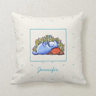 Manatee Sea Turtle Slumber Party Personalized Cushion