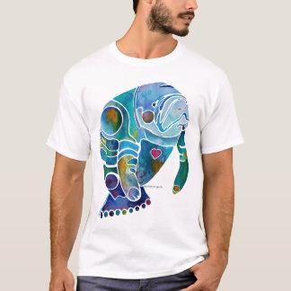 Manatee Tee Shirt Whimsical Original Art