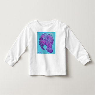 Manatee toddler long sleeve tee shirt