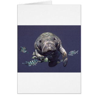 Manatee Underwater World Card