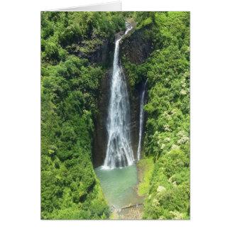 Manawaiopuna Falls Kauai Hawaii Card