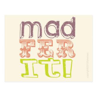 Manc Card - Mad Fer It Postcard