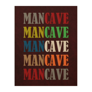 Mancave Wood Prints