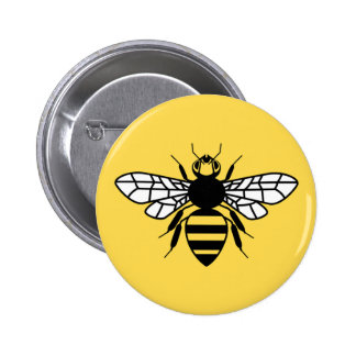 Manchester Bee 6 Cm Round Badge