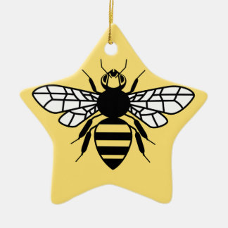 Manchester Bee Ceramic Star Decoration