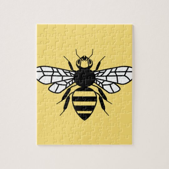 Made In Manchester Bee Car Bumper Sticker Decal 12 x 12 cm