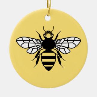 Manchester Bee Round Ceramic Decoration