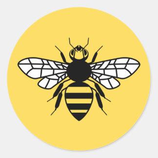 Manchester Bee Round Sticker
