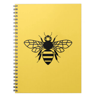 Manchester Bee Spiral Notebooks