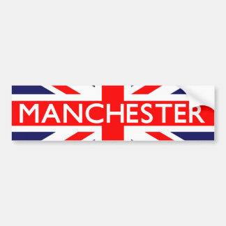 Manchester : British Flag Bumper Sticker