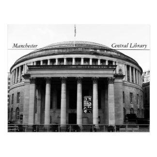 Manchester Central Library Postcard