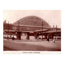 Manchester, Central Station Postcard
