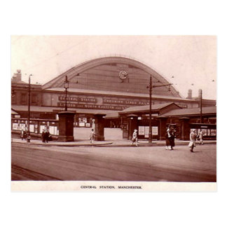 Manchester, Central Station Postcard