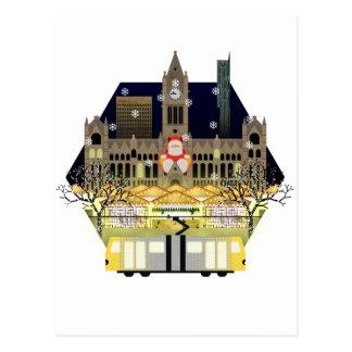 Manchester Christmas Markets Postcard
