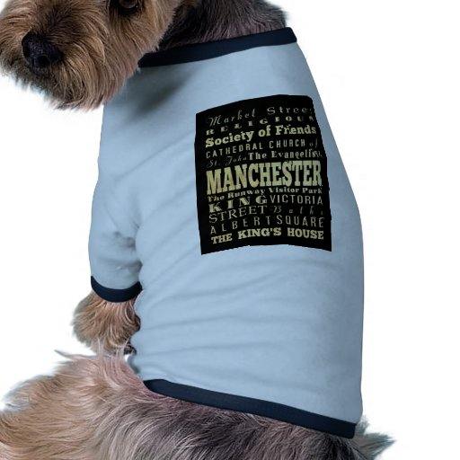 Manchester City of United Kingdom Typography Art Doggie T-shirt