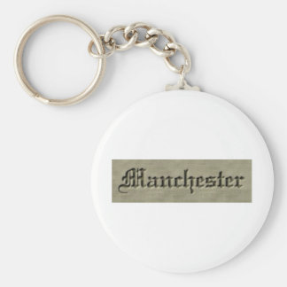 manchester co. basic round button key ring