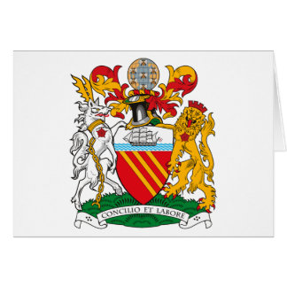 Manchester Coat of Arms Greeting Card