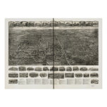 Manchester Connecticut 1914 Panoramic Map Poster