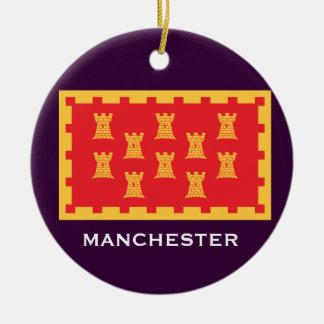 Manchester* Crest Christmas Ornament