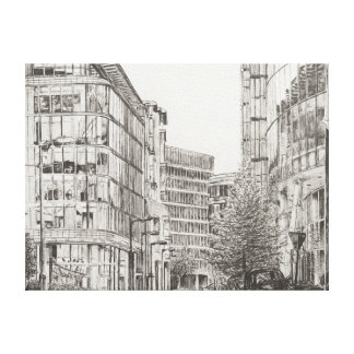 Manchester Deansgate view from cafe.2010 Canvas Print