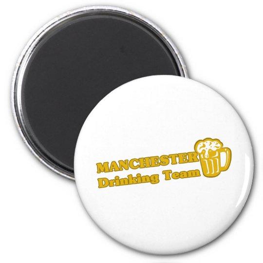Manchester Drinking Team tee shirts 6 Cm Round Magnet