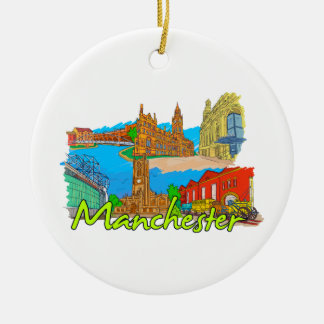 Manchester - England.png Christmas Ornament