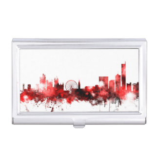 Manchester England Skyline Business Card Holder