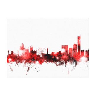Manchester England Skyline Canvas Print