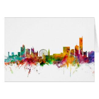 Manchester England Skyline Card